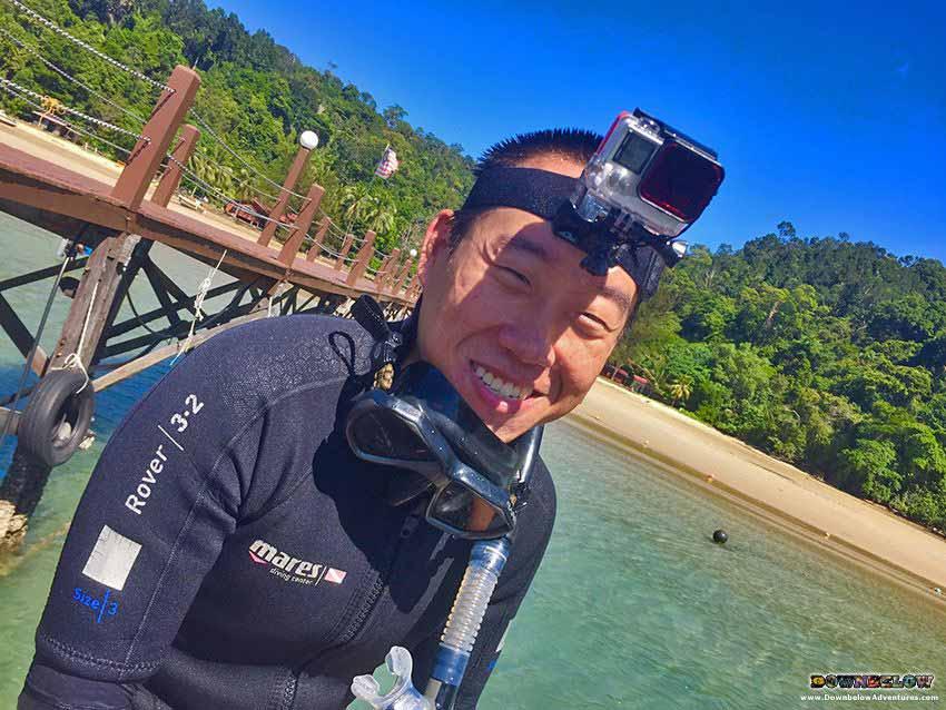 downbelow marine and wildlife adventures, padi 5 star idc dive centre, go pro, gaya island, go pro camera, hero 3, hero 4, tunku abdul rahman marine park, kota kinabalu dive shop