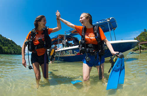PADI OW Course Camps