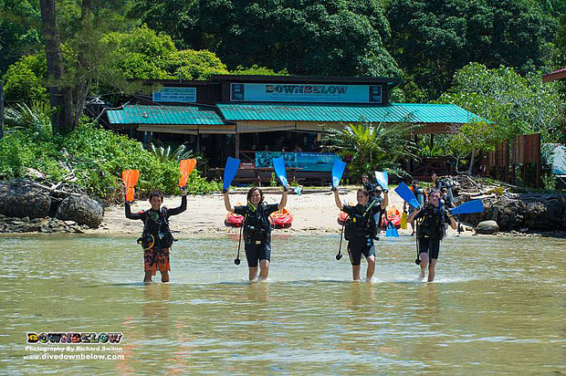 camps international, adventure travel, downbelow marine and wildlife adventures, premier padi 5 star idc dive centre, gaya island, padi open water diver course, dive education, marine conservation, unique education