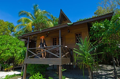 Every Chalet is located on the Beach at Lankayan