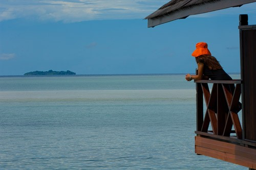 Looking Upon Sipadan Island from Kapalai Dive Resort
