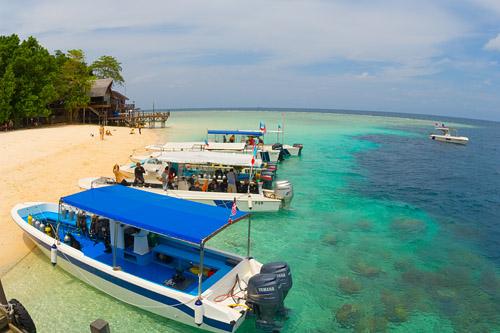 Dive Boats At Sipadan Island