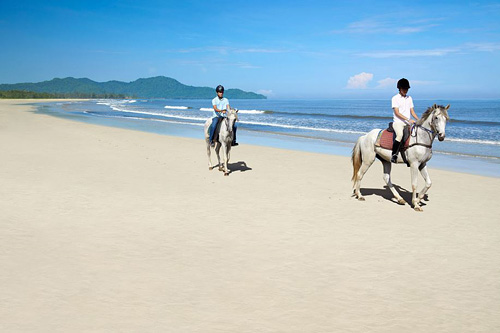 Rasa Ria Horse Riding Along the Beach