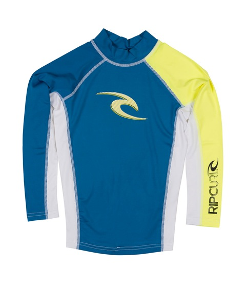 Rip Curl Kids Rashguard Boys Wave Long Sleeve UV Tee
