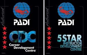 Awarded PADI Career Development Centre