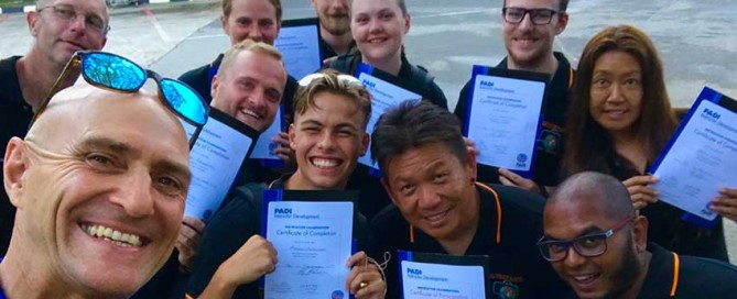 Success on our PADI Instructor Development Course