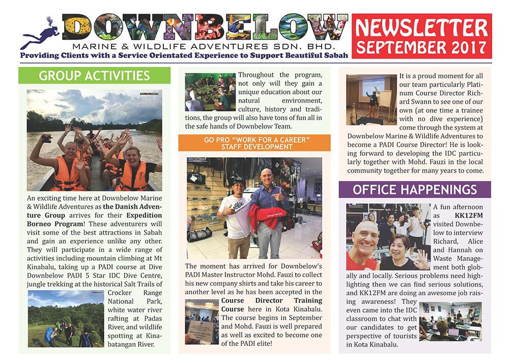 September 2017 Monthly Newsletter