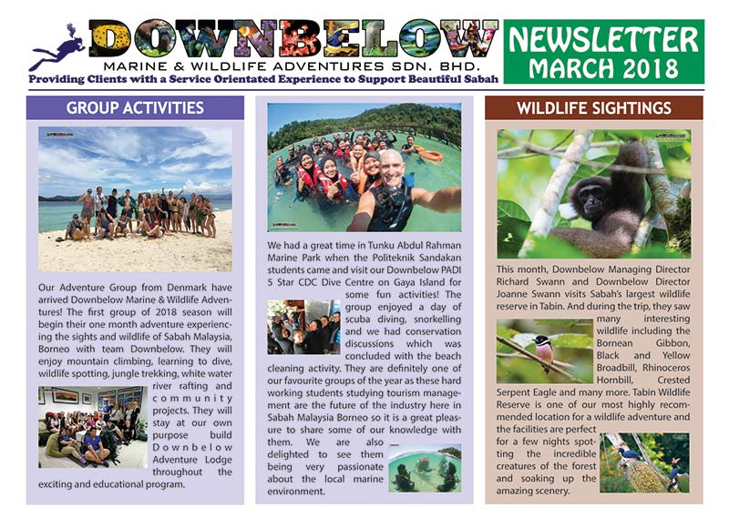 March 2018 Monthly Newsletter