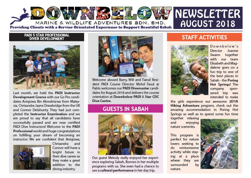 August 2018 Monthly Newsletter