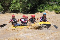 Rafting down the Padas river
