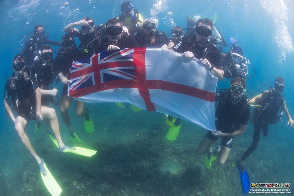 HMS Argyll Visits Kota Kinabalu and Downbelow Adventures