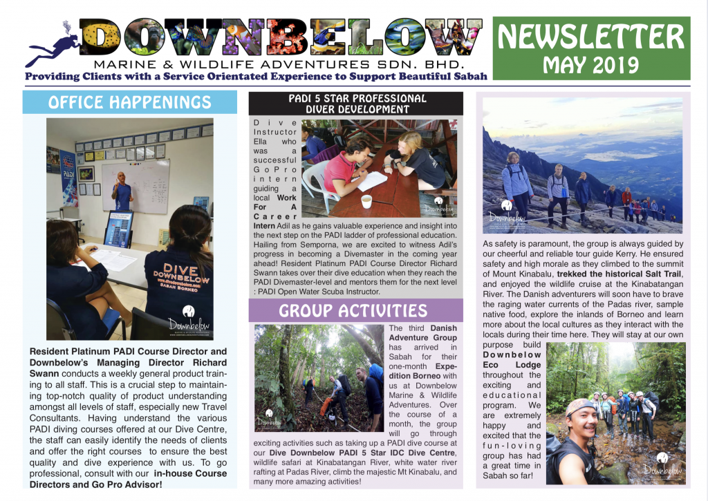 May 2019 Monthly Newsletter